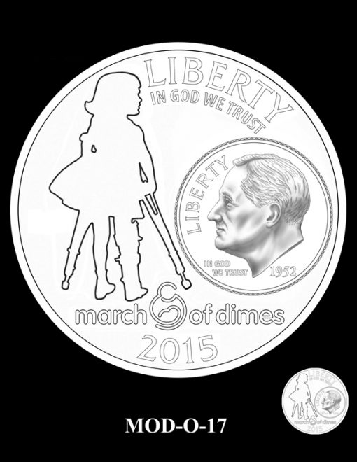 2015 March of Dimes Commemorative Coin Design Candidate MOD-O-17