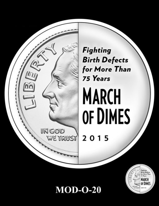 2015 March of Dimes Commemorative Coin Design Candidate MOD-O-20