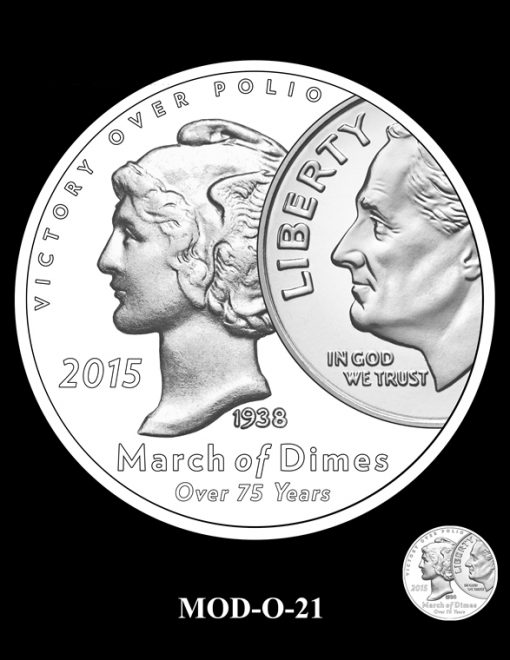 2015 March of Dimes Commemorative Coin Design Candidate MOD-O-21
