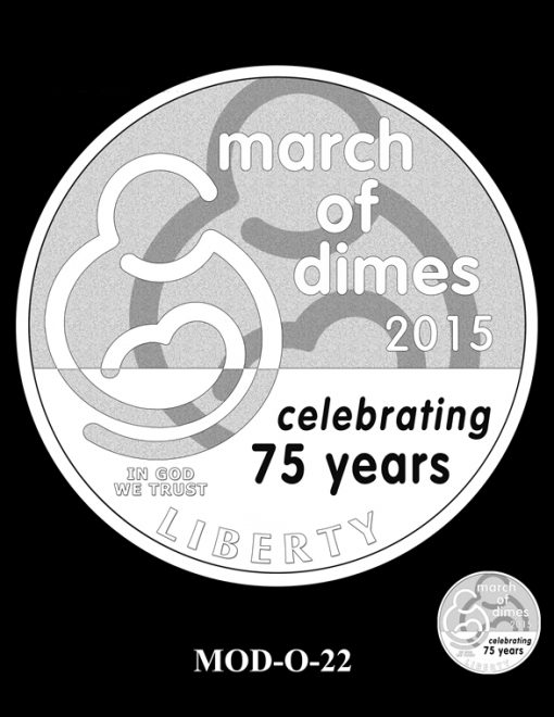 2015 March of Dimes Commemorative Coin Design Candidate MOD-O-22