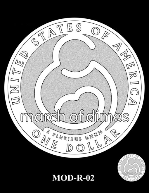 2015 March of Dimes Commemorative Coin Design Candidate MOD-R-02