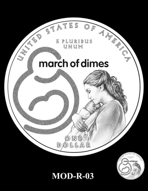 2015 March of Dimes Commemorative Coin Design Candidate MOD-R-03