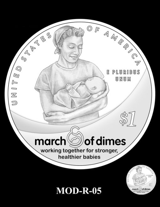 2015 March of Dimes Commemorative Coin Design Candidate MOD-R-05