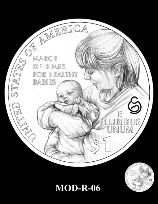 2015 March of Dimes Commemorative Coin Design Candidate MOD-R-06
