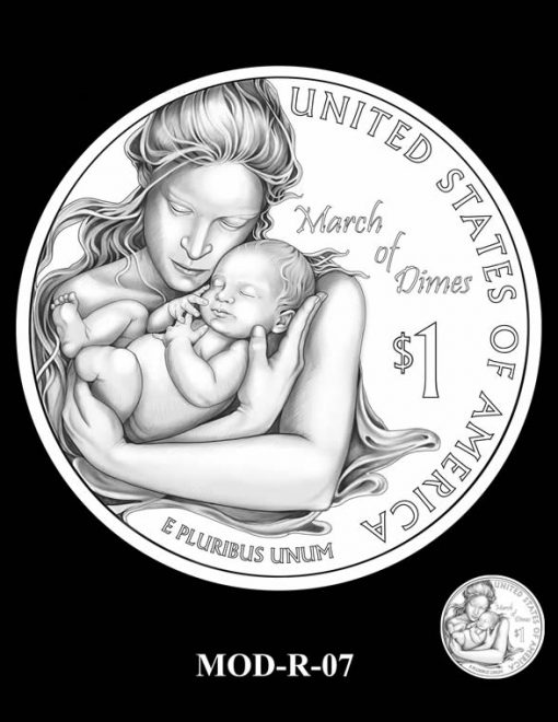2015 March of Dimes Commemorative Coin Design Candidate MOD-R-07