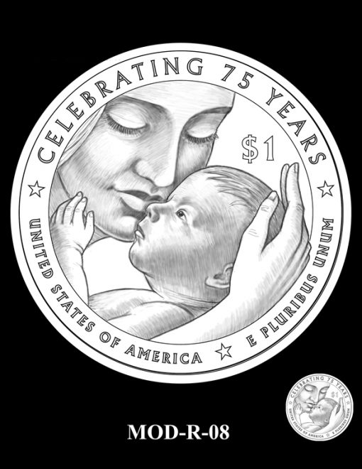 2015 March of Dimes Commemorative Coin Design Candidate MOD-R-08