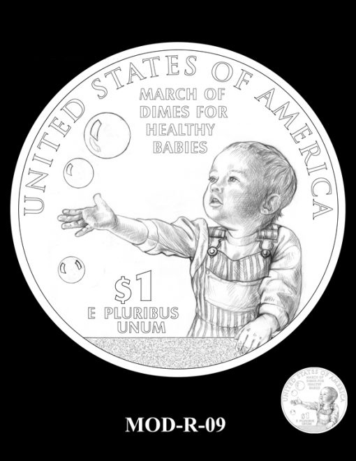2015 March of Dimes Commemorative Coin Design Candidate MOD-R-09