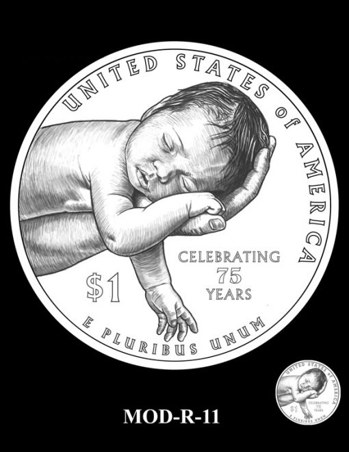 2015 March of Dimes Commemorative Coin Design Candidate MOD-R-11