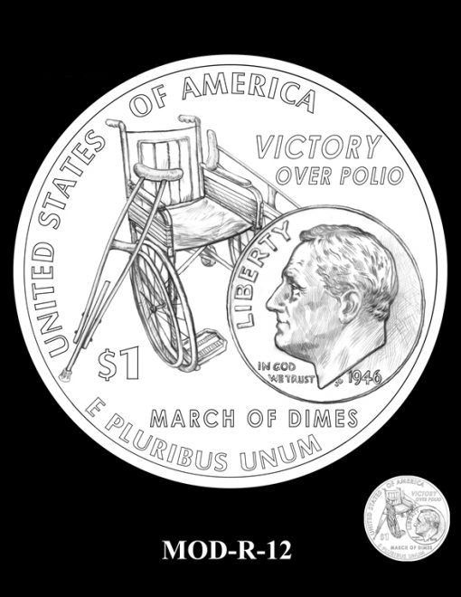 2015 March of Dimes Commemorative Coin Design Candidate MOD-R-12