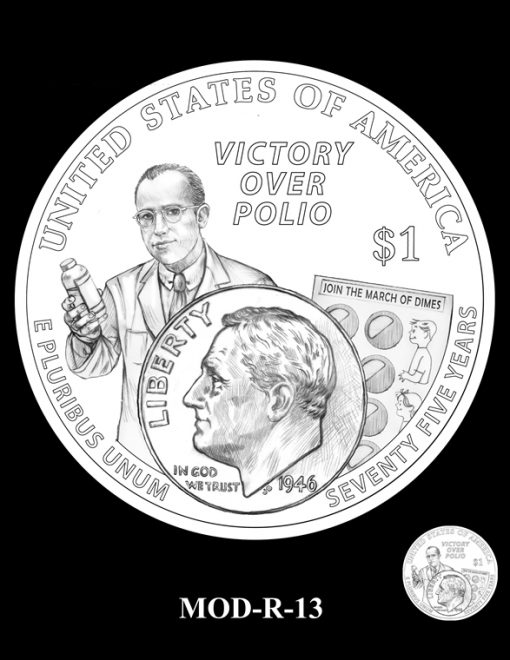 2015 March of Dimes Commemorative Coin Design Candidate MOD-R-13
