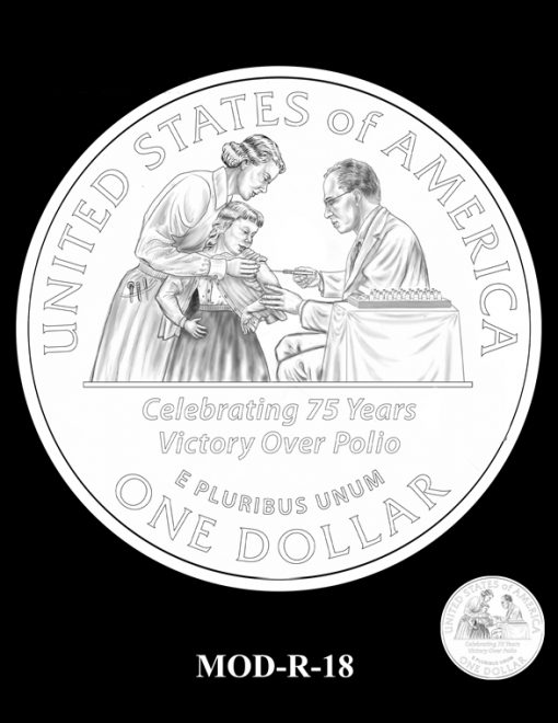 2015 March of Dimes Commemorative Coin Design Candidate MOD-R-18