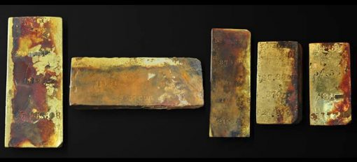 5 Gold Ingots from SS Central America