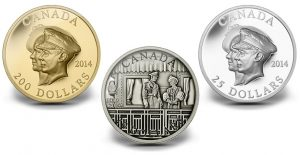 Canadian Coins for 75th Anniversary of the First Royal Visit