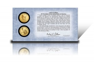 Back of 2014 Calvin Coolidge $1 Coin Cover