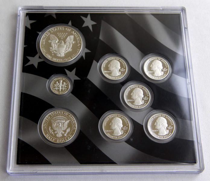 Back view of the lens of coins for 2013 Limited Edition Silver Proof Set