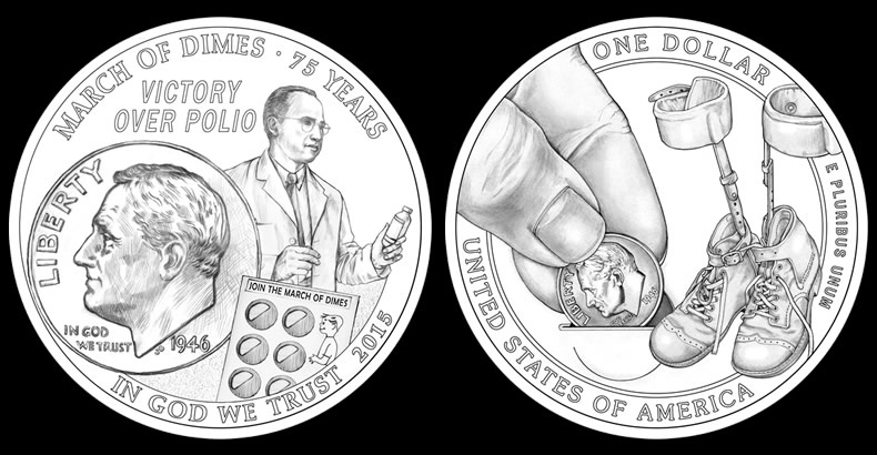 Cfa Recommended Designs For The 2017 March Of Dimes Silver Dollar