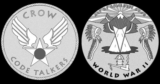 CFA and CCAC Recommended Designs for Crow Tribe Code Talkers Gold Medal