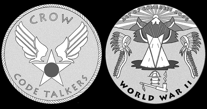 fc0e14e3d CFA and CCAC Recommended Designs for Crow Tribe Code Talkers Gold Medal