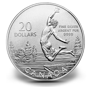 Canadian 2014 $20 Summertime Silver Coin