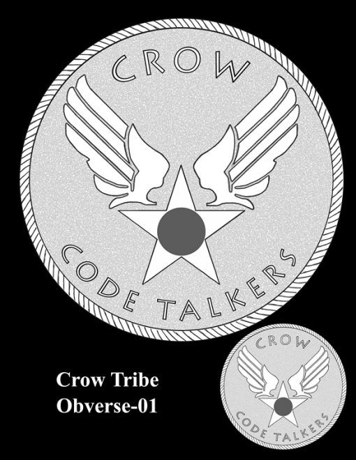 Crow Tribe Code Talkers Gold Medal Design Candidate Crow-O-01
