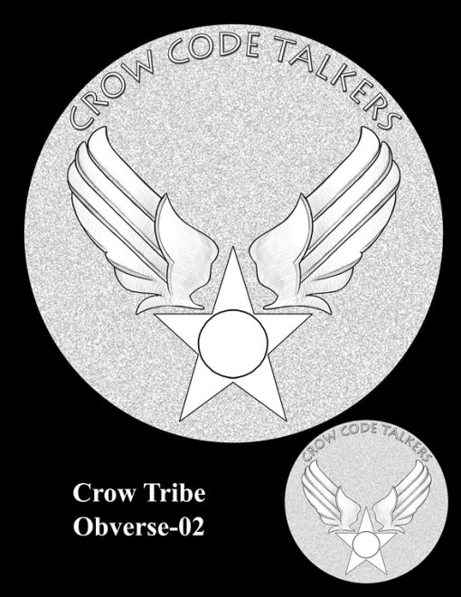 Crow Tribe Code Talkers Gold Medal Design Candidate Crow-O-02