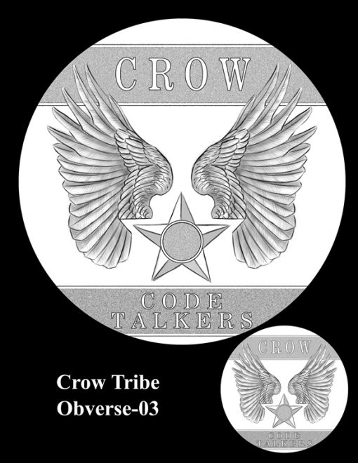 Crow Tribe Code Talkers Gold Medal Design Candidate Crow-O-03