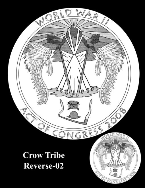 Crow Tribe Code Talkers Gold Medal Design Candidate Crow-R-02