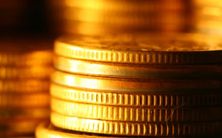 Edges of Gold Coins