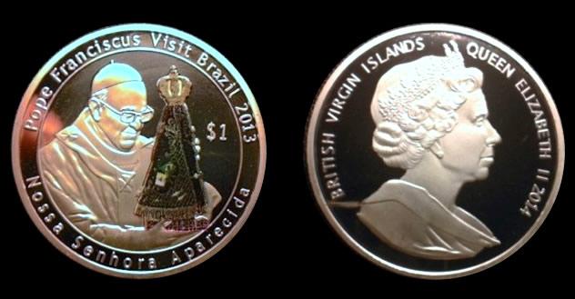 Fake 2014 $1 BVI Coin