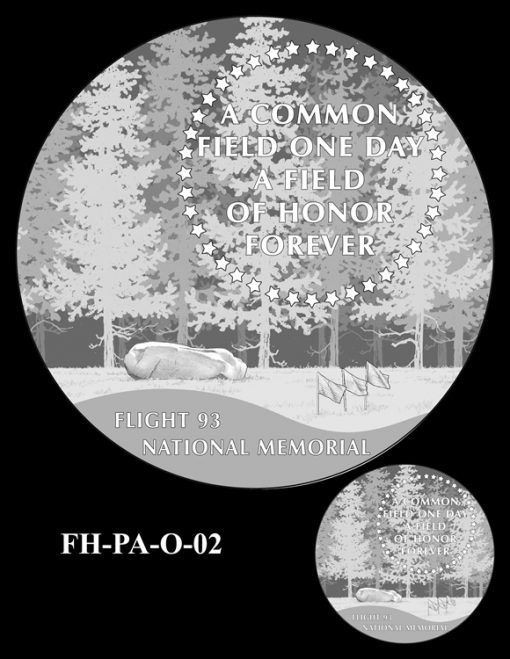 Fallen Heroes Flight 93 Medal Design Candidate FH-PA-O-02