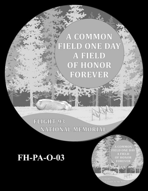 Fallen Heroes Flight 93 Medal Design Candidate FH-PA-O-03