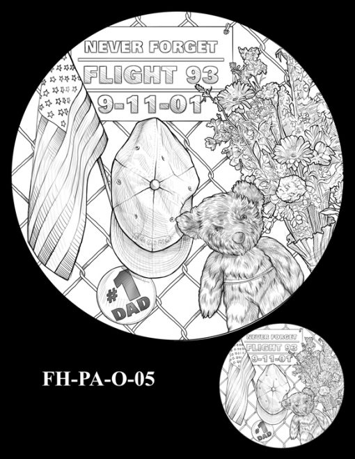 Fallen Heroes Flight 93 Medal Design Candidate FH-PA-O-05