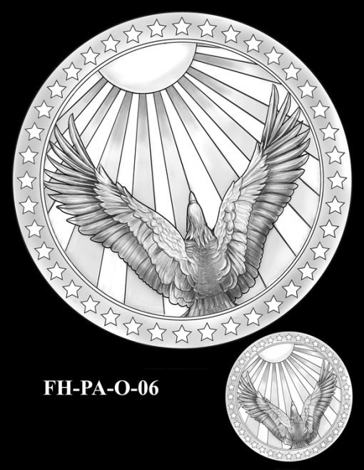 Fallen Heroes Flight 93 Medal Design Candidate FH-PA-O-06
