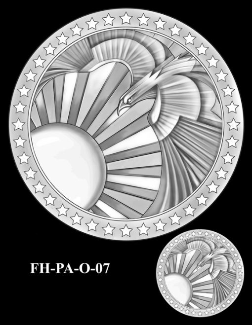 Fallen Heroes Flight 93 Medal Design Candidate FH-PA-O-07
