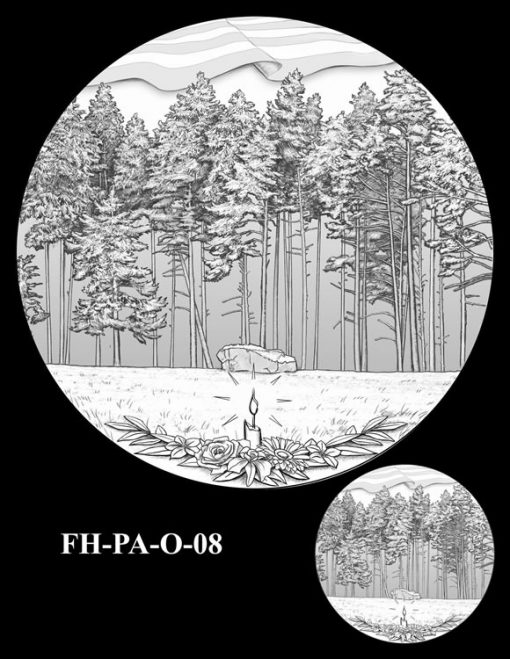 Fallen Heroes Flight 93 Medal Design Candidate FH-PA-O-08