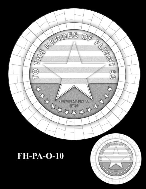 Fallen Heroes Flight 93 Medal Design Candidate FH-PA-O-10