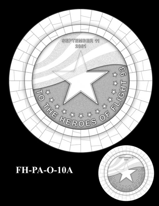 Fallen Heroes Flight 93 Medal Design Candidate FH-PA-O-10A