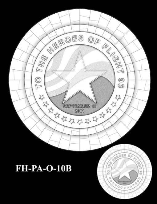 Fallen Heroes Flight 93 Medal Design Candidate FH-PA-O-10B