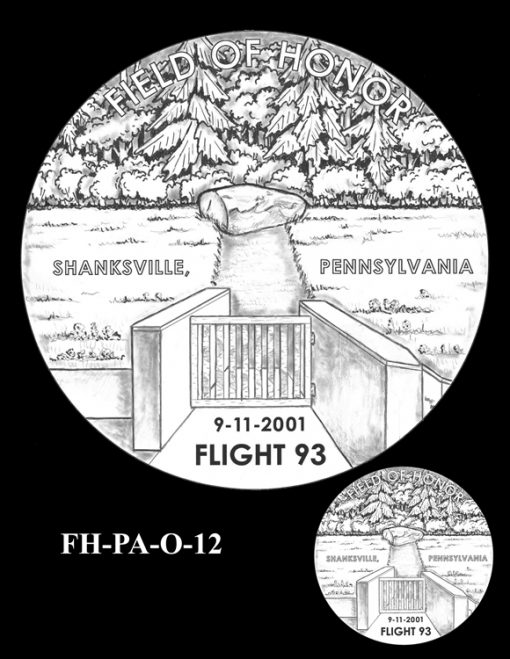 Fallen Heroes Flight 93 Medal Design Candidate FH-PA-O-12