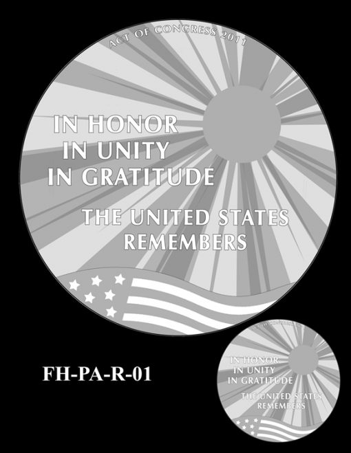 Fallen Heroes Flight 93 Medal Design Candidate FH-PA-R-01
