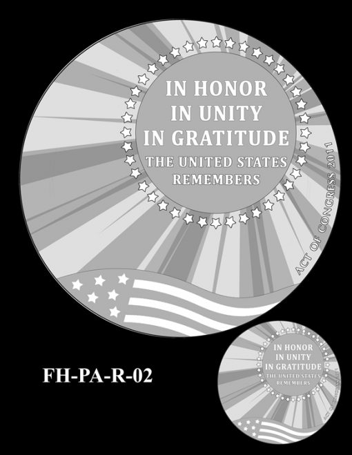 Fallen Heroes Flight 93 Medal Design Candidate FH-PA-R-02