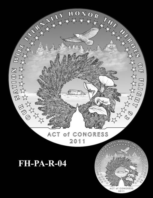 Fallen Heroes Flight 93 Medal Design Candidate FH-PA-R-04