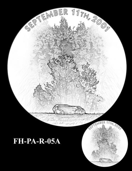 Fallen Heroes Flight 93 Medal Design Candidate FH-PA-R-05A