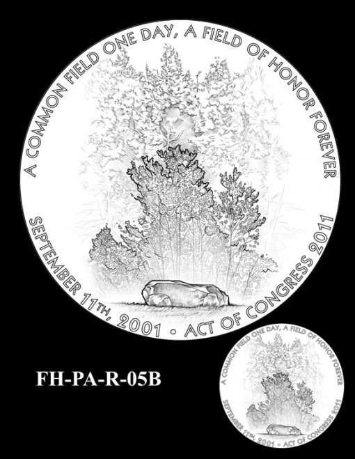 Fallen Heroes Flight 93 Medal Design Candidate FH-PA-R-05B