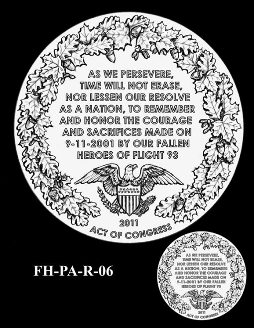 Fallen Heroes Flight 93 Medal Design Candidate FH-PA-R-06