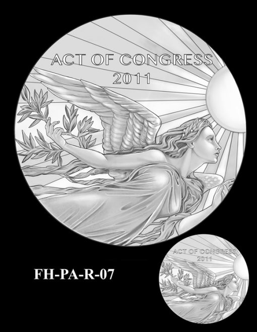 Fallen Heroes Flight 93 Medal Design Candidate FH-PA-R-07