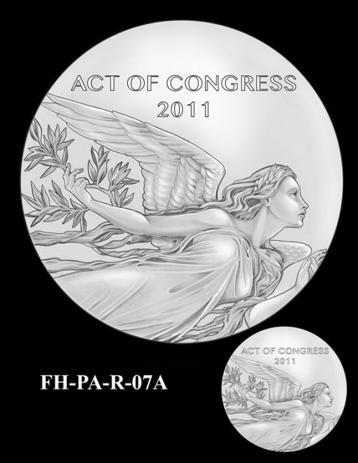 Fallen Heroes Flight 93 Medal Design Candidate FH-PA-R-07A