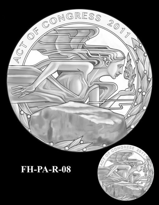 Fallen Heroes Flight 93 Medal Design Candidate FH-PA-R-08