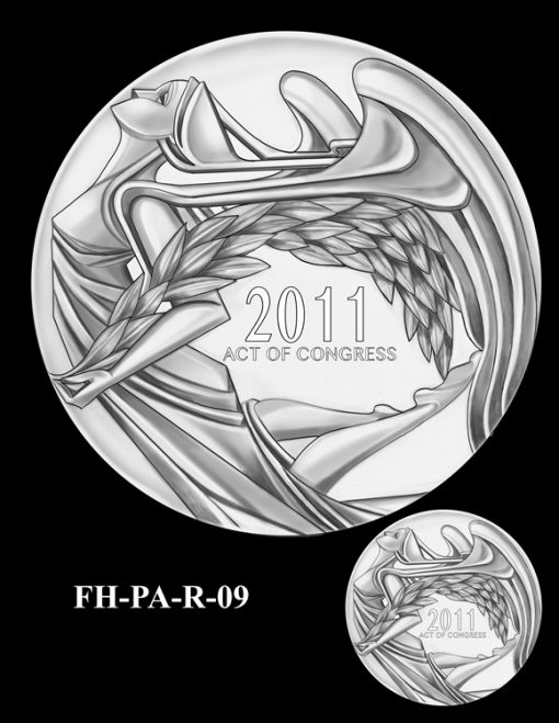 Fallen Heroes Flight 93 Medal Design Candidate FH-PA-R-09