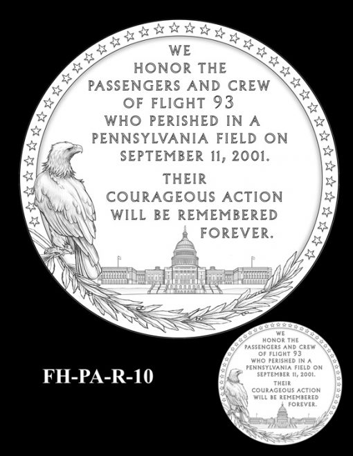Fallen Heroes Flight 93 Medal Design Candidate FH-PA-R-10